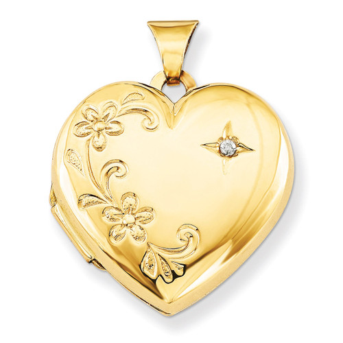 Diamond Family Heart Locket 14k Yellow Gold XL144