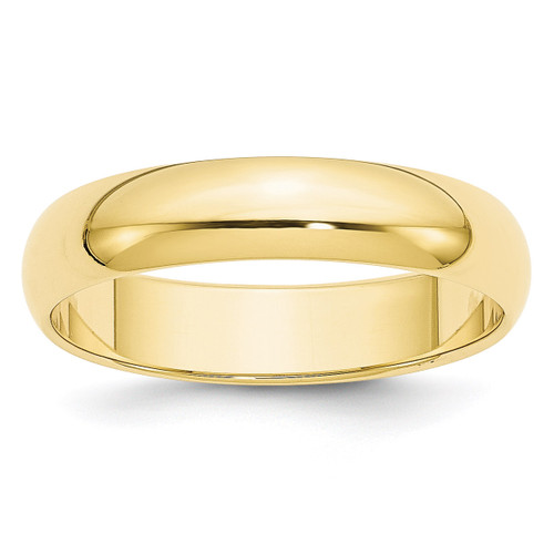 5mm Half Round Band 10k Yellow Gold Engravable 1HR050-12.5