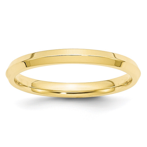 2.5mm Knife Edge Comfort Fit Band 10k Yellow Gold Engravable 1KEC025-10