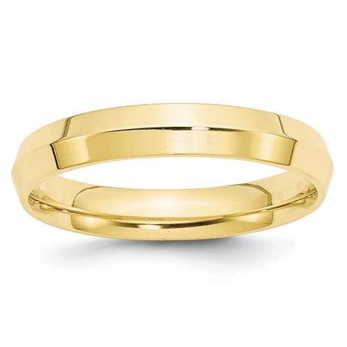4mm Knife Edge Comfort Fit Band 10k Yellow Gold Engravable 1KEC040-10