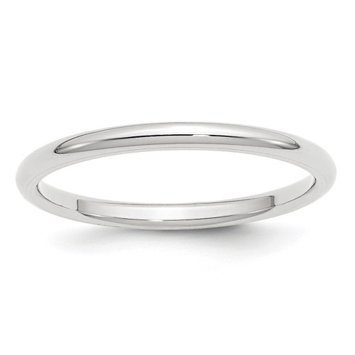 2mm Standard Comfort Fit Band 10k White Gold Engravable 1WCF020-10