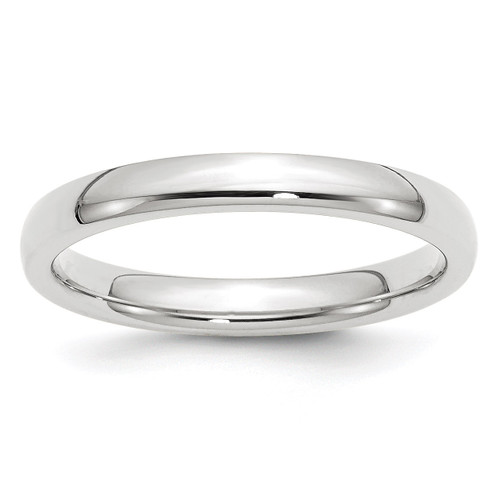 3mm Standard Comfort Fit Band 10k White Gold Engravable 1WCF030-10