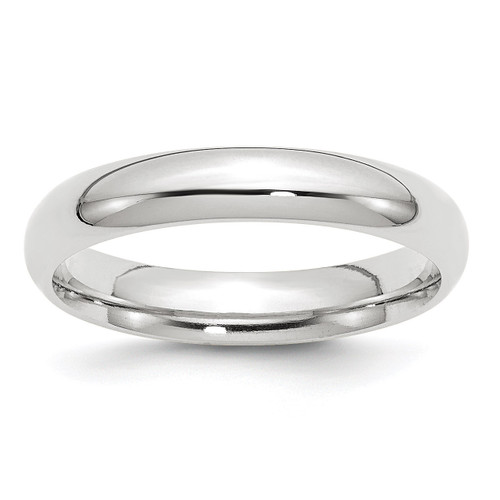 4mm Standard Comfort Fit Band 10k White Gold Engravable 1WCF040-10