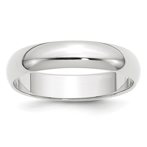 5mm Half Round Band 10k White Gold Engravable 1WHR050-10