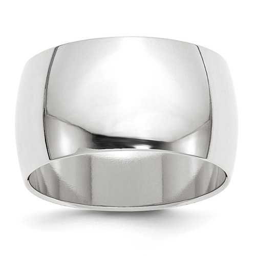 12mm Half Round Band 10k White Gold Engravable 1WHR120-10