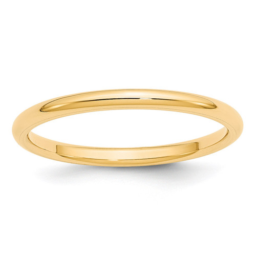 2mm Standard Comfort Fit Band 14k Yellow Gold Engravable CF020-10