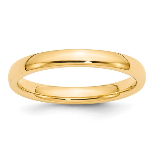 3mm Comfort-Fit Band 14k Gold Engravable CF030-10.5
