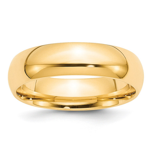 6mm Comfort-Fit Band 14k Gold Engravable CF060-10