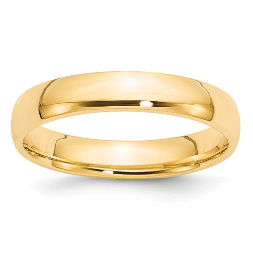 4mm Lightweight Comfort Fit Band 14k Yellow Gold Engravable CFL040-10