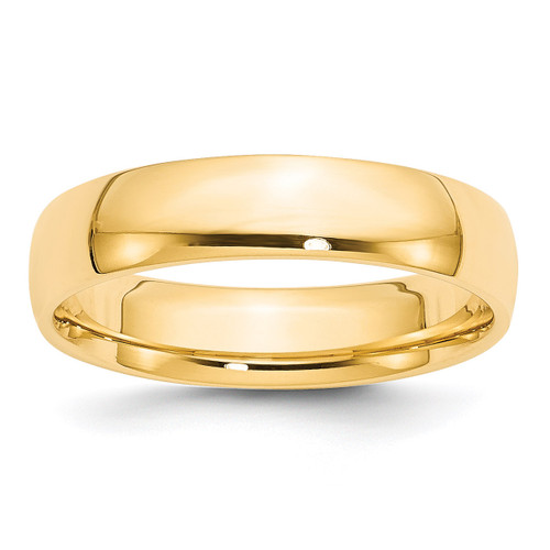 5mm Lightweight Comfort Fit Band 14k Yellow Gold Engravable CFL050-10