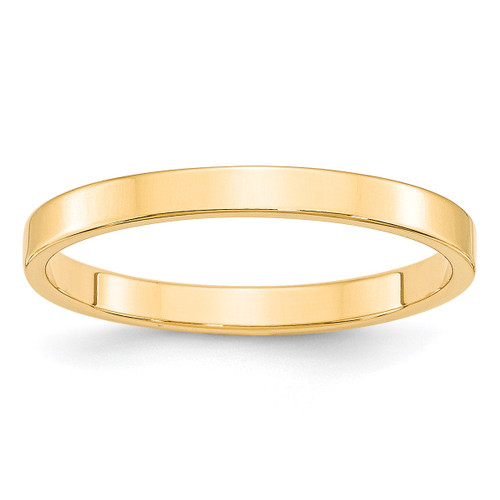 2.5mm Lightweight Flat Band 14k Yellow Gold Engravable FLL025-10