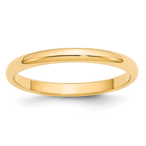 2.5mm Half Round Band 14k Yellow Gold Engravable HR025-10