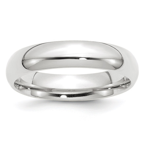 5mm Comfort-Fit Band 14k White Gold Engravable WCF050-10