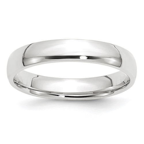 4mm Lightweight Comfort Fit Band 14k White Gold Engravable WCFL040-13.5