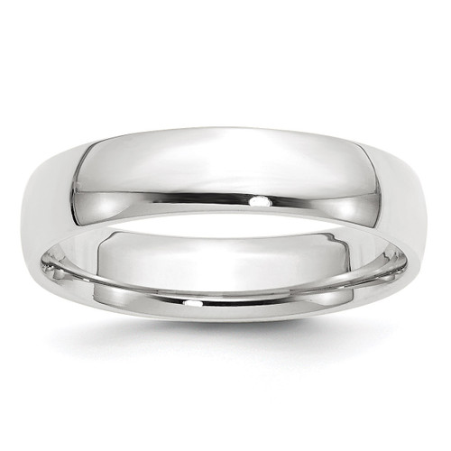 5mm Lightweight Comfort Fit Band 14k White Gold Engravable WCFL050-10