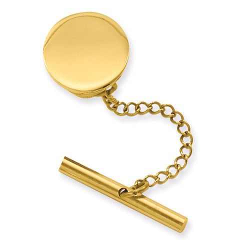 Kelly Waters Round Polished Tie Tack Gold-plated GP3773