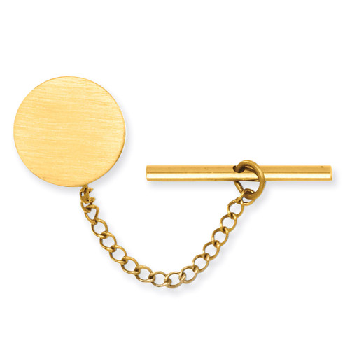 Kelly Waters Round Satin Tie Tack Gold-plated GP3783