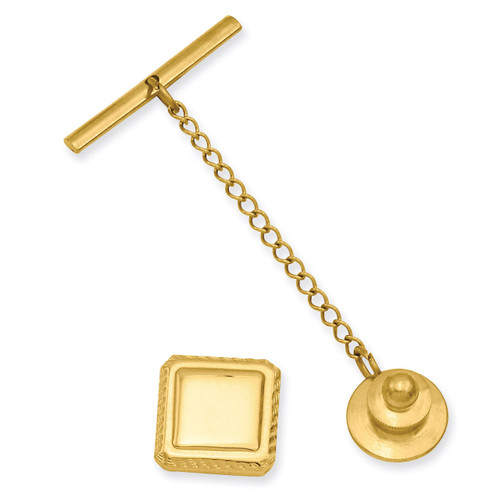 Kelly Waters Square Tie Tack Gold-plated KW579