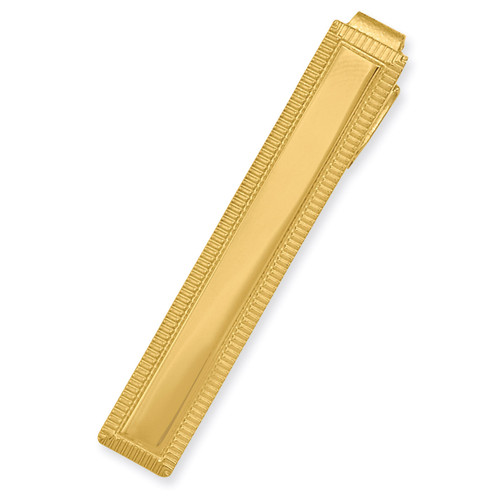 Kelly Waters Lined Edge Tie Bar Gold-plated KW598
