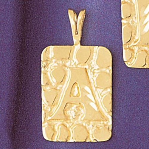 Initial A Pendant Necklace Charm Bracelet in Gold or Silver 9576a