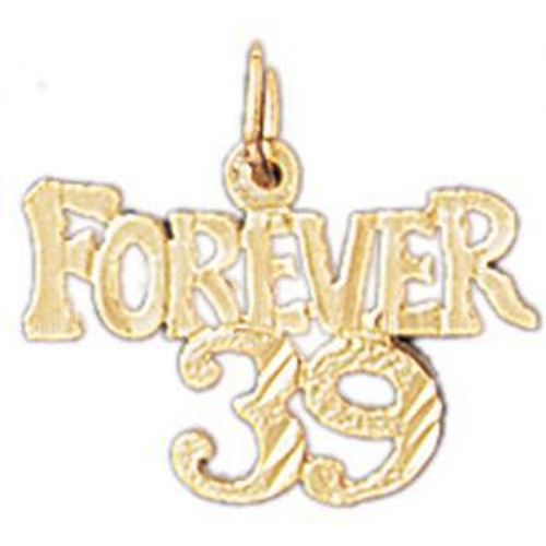 Forever 39 Pendant Necklace Charm Bracelet in Gold or Silver 9693