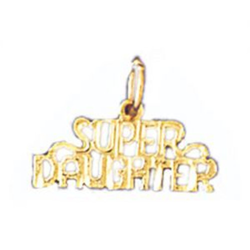 Super Daughter Pendant Necklace Charm Bracelet in Gold or Silver 9913