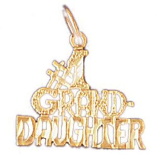 Number One Granddaughter Pendant Necklace Charm Bracelet in Gold or Silver 10034