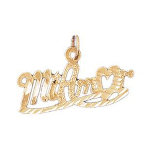 Mi Amor Pendant Necklace Charm Bracelet in Gold or Silver 10239