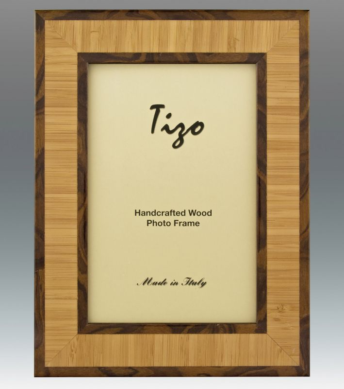 tizo 8 x 10 inch double chocolate wood picture frame - Double 8x10 Frame