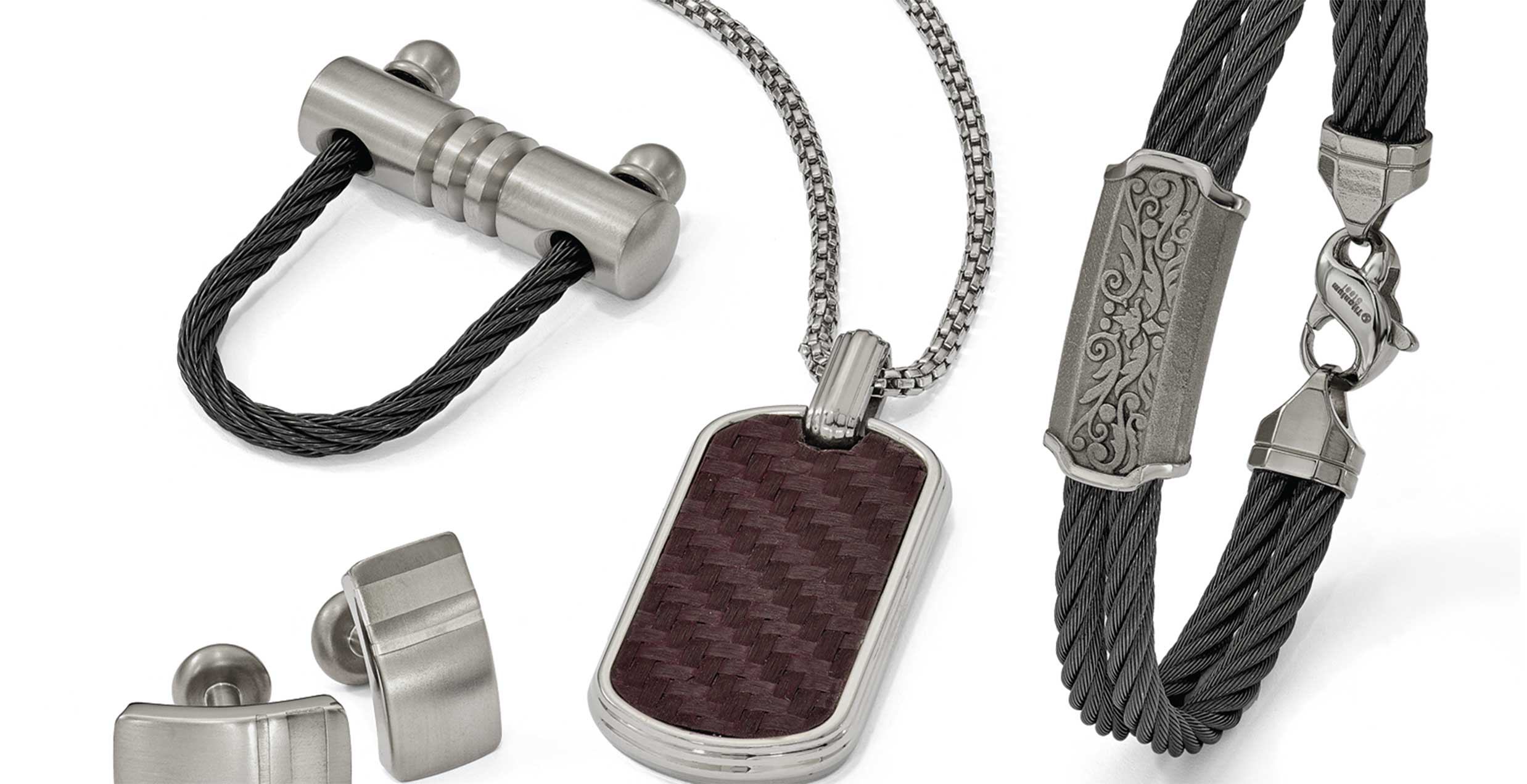 Shop for Edward Mirell Modern Men's Jewelry
