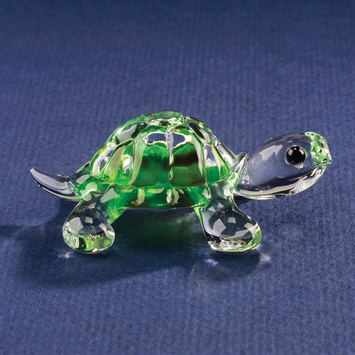Green Turtle Glass Figurine Homebello