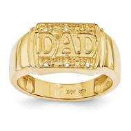 DAD Ring Mounting 14k Gold Polished X9459