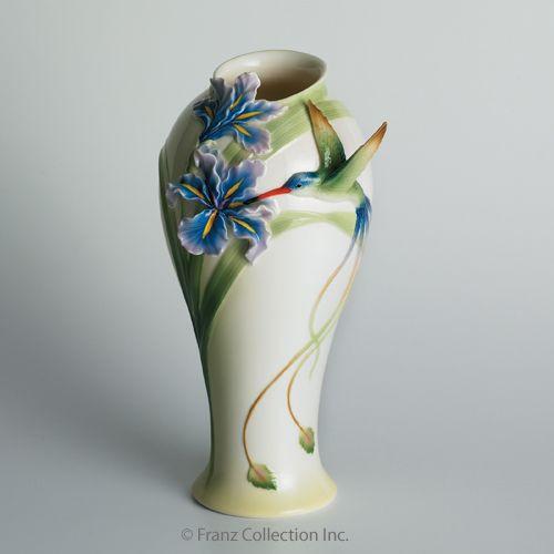 Franz Porcelain Long Tail Hummingbird Vase Fz00711 Upc
