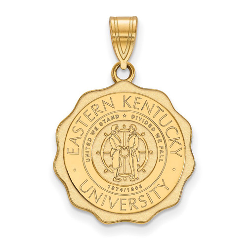 Eastern Kentucky University Large Crest Pendant Gold