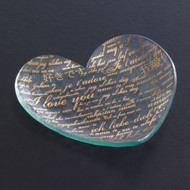 Annieglass Hearts Plate Sweet Nothings 7 Inch - Gold MPN: CSH206G