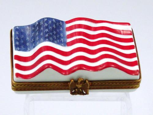 Chamart American Flag Limoges Box 91 131 Homebello