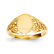 Filigree Signet Ring 14k Gold CH288
