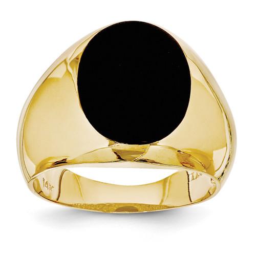 Men S Onyx Ring 14k Gold Homebello