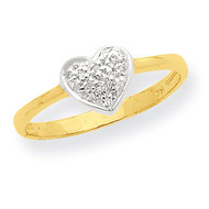 Marquise Diamond Heart Ring 14K Gold & Rhodium Y7996A