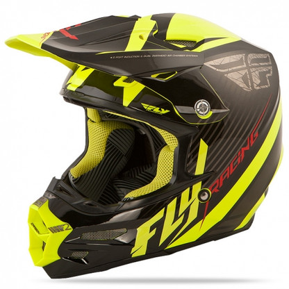 2016 Fly Racing F2 Carbon Fastback Helmet Black/Hi-Vis