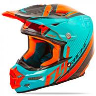2016 Fly Racing F2 Carbon Fastback Helmet Teal/Orange/Black