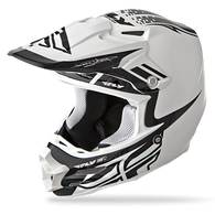 2016 Fly Racing F2 Carbon Dubstep Helmet Matte White/Black