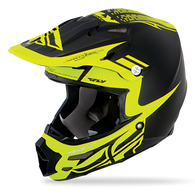 2016 Fly Racing F2 Carbon Dubstep Helmet Matte Black/Hi-Vis