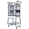 Lazy Bones Open Top Parrot Cage on Stand Antique