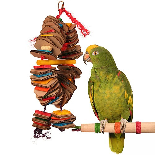 Shredding Coronet - Medium - Chewable Foraging Parrot Toy