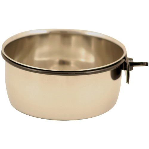 Stainless Steel Coop Cup & Clamp Parrot Bowl