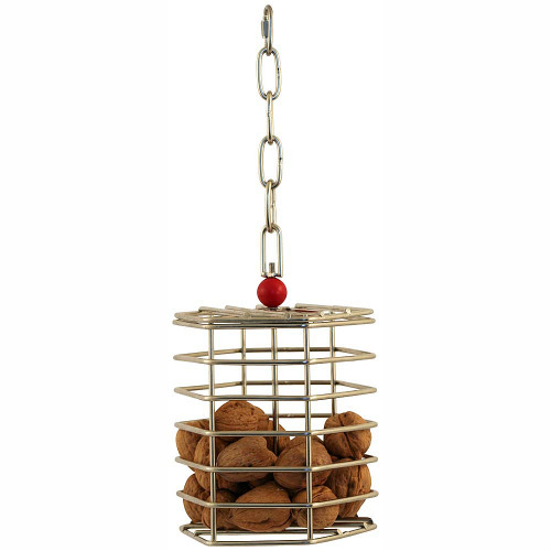 Baffle Cage - Stainless Steel Foraging Toy - Large