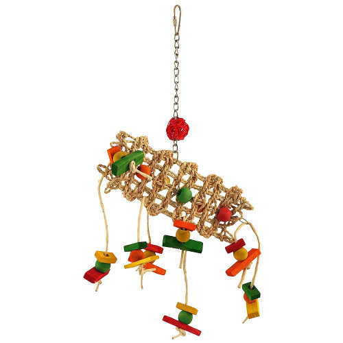 Scatterpillar Wood & Rope Parrot Toy