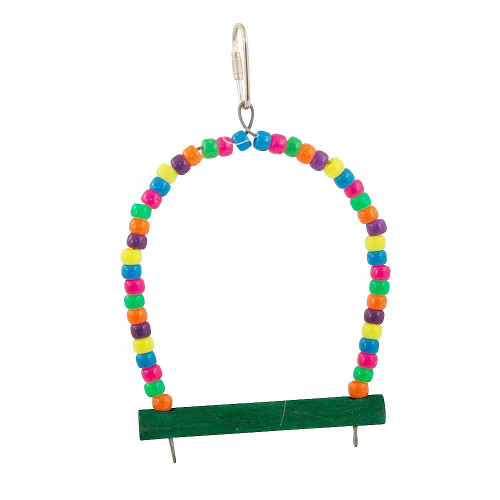 Pony Beads Arch Swing Parrot Perch