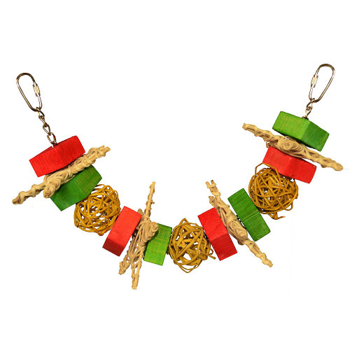 Christmas Garland Parrot Toy - Large
